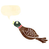 Retro cartoon pheasant Royalty Free Stock Image