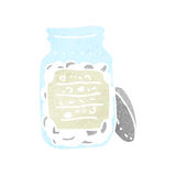Retro cartoon pill jar Royalty Free Stock Images