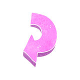 Retro cartoon pink arrow Royalty Free Stock Photos
