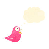 retro cartoon pink bird Royalty Free Stock Photography