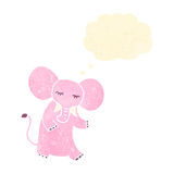 Retro cartoon pink elephant Royalty Free Stock Images