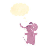Retro cartoon pink elephant Stock Image