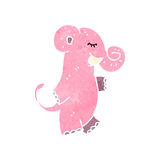 Retro cartoon pink elephant Royalty Free Stock Photography