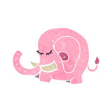 Retro cartoon pink elephant Stock Images