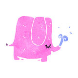Retro cartoon pink elephant Stock Photography