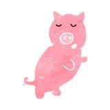 retro cartoon pink pig Royalty Free Stock Image