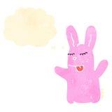 Retro cartoon pink rabbit Stock Photography