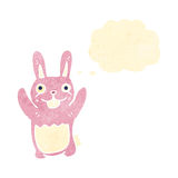Retro cartoon pink rabbit Royalty Free Stock Photo