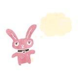 Retro cartoon pink rabbit Royalty Free Stock Image