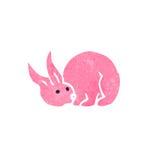 Retro cartoon pink rabbit Royalty Free Stock Photos