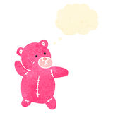 Retro cartoon pink teddy bear Stock Photography