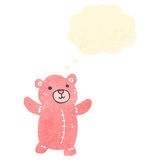 Retro cartoon pink teddy bear Royalty Free Stock Images