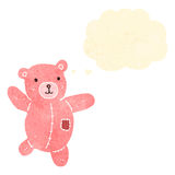 Retro cartoon pink teddy bear Royalty Free Stock Photos
