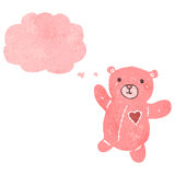 Retro cartoon pink teddy bear Royalty Free Stock Photography