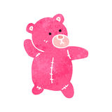Retro cartoon pink teddy bear Stock Photo