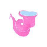 Retro cartoon pink tuba Stock Photos
