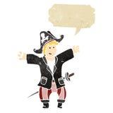 retro cartoon pirate Royalty Free Stock Images