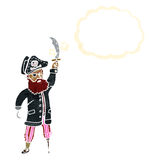 retro cartoon pirate Stock Photography