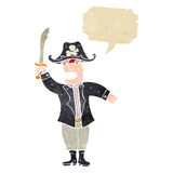 Retro cartoon pirate captain Stock Photography