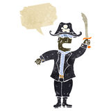 Retro cartoon pirate captain Stock Photography