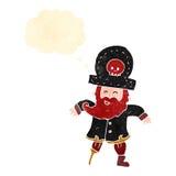 Retro cartoon pirate captain Stock Images