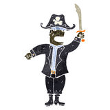 Retro cartoon pirate captain Stock Photo
