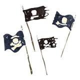 retro cartoon pirate flags Royalty Free Stock Photo
