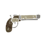 Retro cartoon pistol Royalty Free Stock Images