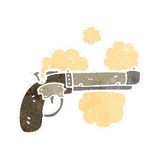 Retro cartoon pistol,gun,old, Royalty Free Stock Image