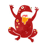 Retro cartoon poisonous frog Royalty Free Stock Photo