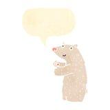 Retro cartoon polar bear Royalty Free Stock Photo