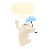 Retro cartoon polar bear Stock Images