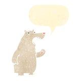 Retro cartoon polar bear Royalty Free Stock Photography