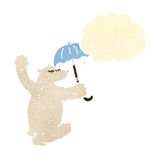 Retro cartoon polar bear Royalty Free Stock Photos