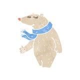Retro cartoon polar bear Royalty Free Stock Image