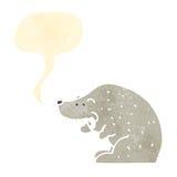Retro cartoon polar bear Royalty Free Stock Images