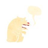 retro cartoon polar bear growling Royalty Free Stock Images