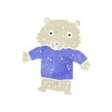 Retro cartoon polar bear Stock Photo