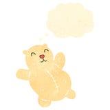 Retro cartoon polar bear teddy Royalty Free Stock Photo
