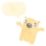 Retro cartoon polar bear teddy Stock Photos