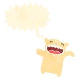 retro cartoon polar bear teddy Stock Images