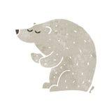 Retro cartoon polar bear Stock Photos