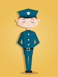 Retro cartoon policeman Stock Photo