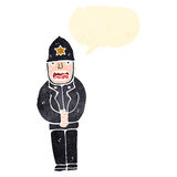 retro cartoon policeman Royalty Free Stock Photo