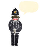 Retro cartoon policeman Royalty Free Stock Image