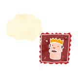 retro cartoon postage stamp Royalty Free Stock Images