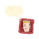 retro cartoon postage stamp Royalty Free Stock Image