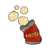 Retro cartoon potato chips bag Royalty Free Stock Photos