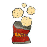 Retro cartoon potato chips bag Stock Photo