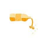 Retro cartoon pouring orange drink Royalty Free Stock Photography